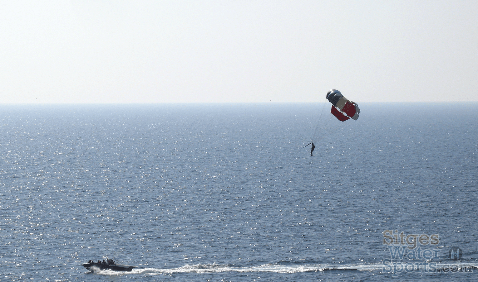 Parasailing in Sitges